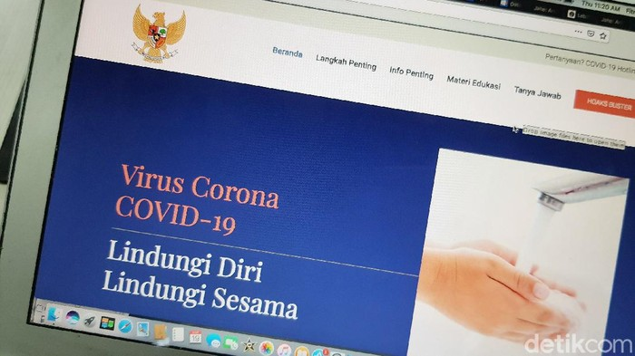 Website Virus Corona Resmi Indonesia