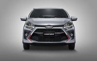 Tampang depan Toyota Agya terbaru.