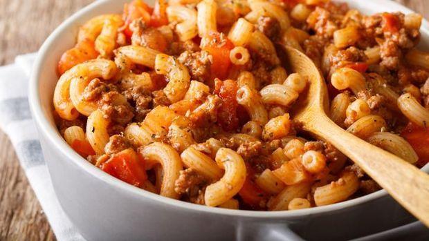 Tumis Makaroni Daging Cincang