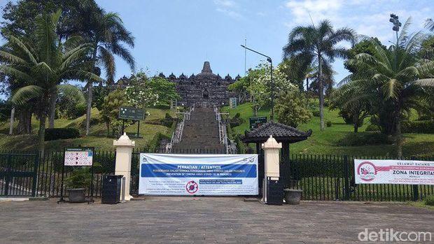 Begini Suasana Borobudur Pasca Ditutup Sementara