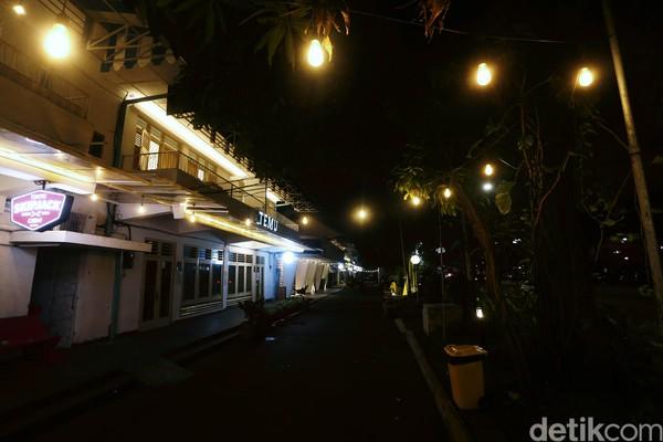 Suasana di Bloc Space, Jakarta, Kamis (19/03/2020) malam.