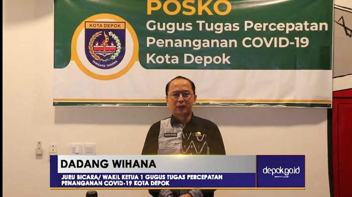 Jubir Gugus Tugas Percepatan Penanganan COVID-19 Kota Depok Dadang Wihana