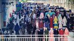 Suasana Pasar Tanah Abang di Tengah Wabah Corona