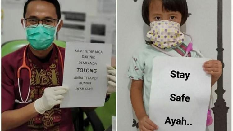 Aneka Foto Kampanye Dokter Tetap Kerja Lawan Corona
