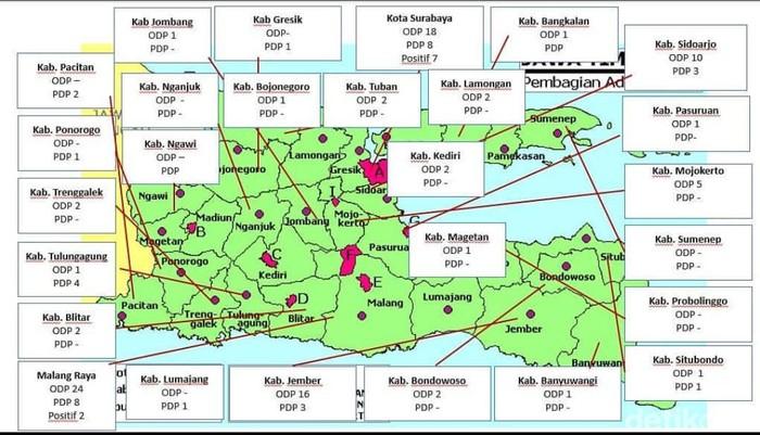 Surabaya Dan Malang Masuk Zona Merah Sebaran Virus Corona
