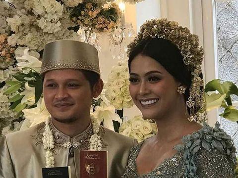 Bunga Jelitha dan Syamsir Alam, artis yang menikah saat ada Corona.