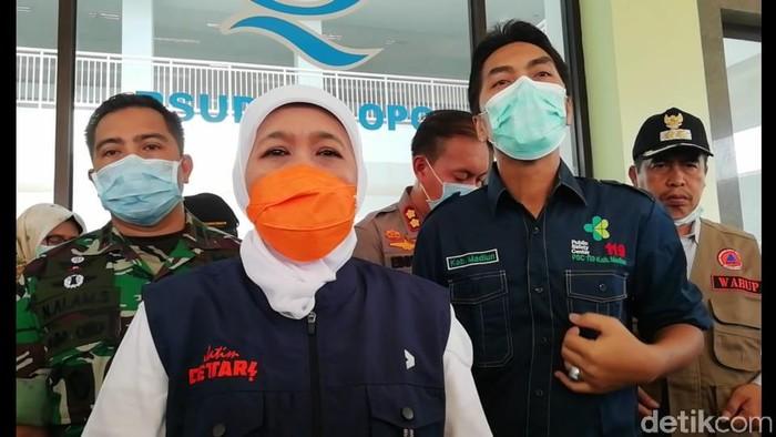Gubernur Jawa Timur Khofifah di RSUD Dolopo