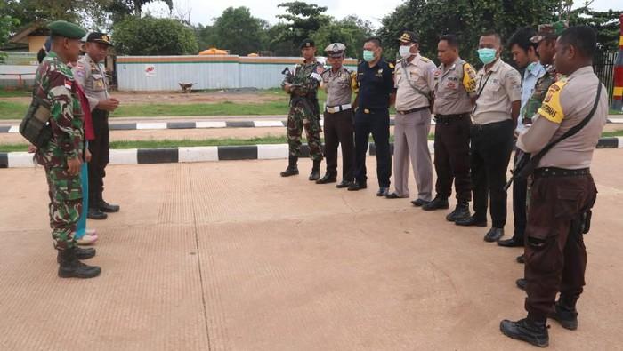 TNI-Polri dan Unsur CIQ PLBN Sota Cegah Virus Corona di Perbatasan RI-PNG
