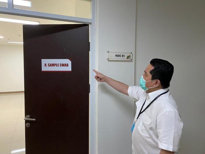 Erick Thohir Cek Wisma Atlet Jadi RS Darurat Corona