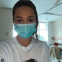 Andrea Dian saat dirawat di RS /