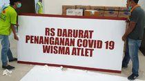 Wisma Atlet Rawat 1.018 Pasien, 700 Terkonfirmasi Positif COVID-19