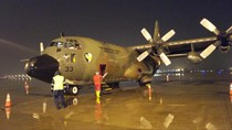 Tiba di Natuna, Pesawat Hercules TNI Disemprot Disinfektan