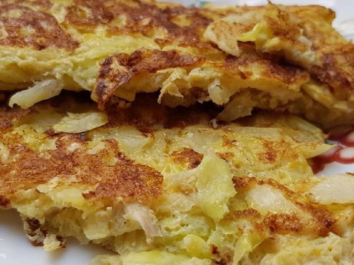cabbage omelette atau omelet kol