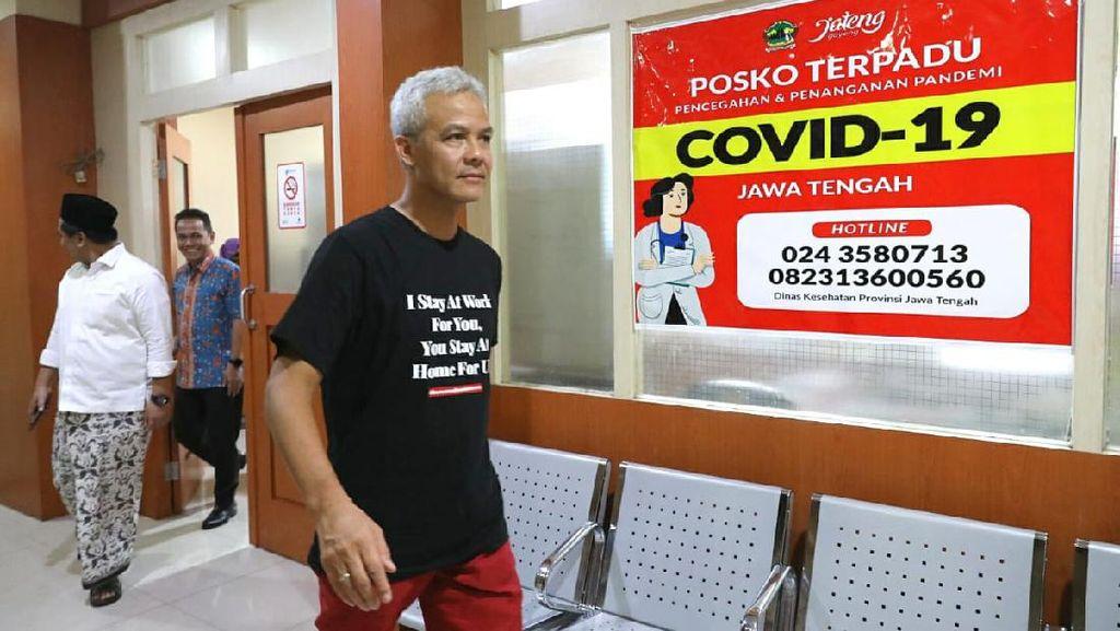 Beda Hasil Swab Corona Dinkes Jateng dan Pemkot Tegal, Ini Kata Ganjar