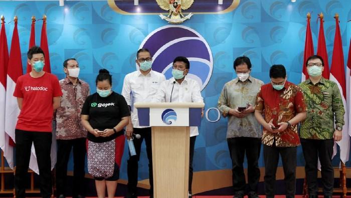 Kominfo kerja sama dengan enam startup untuk menerapkan social distancing di tengah merebaknya virus corona di Indonesia.