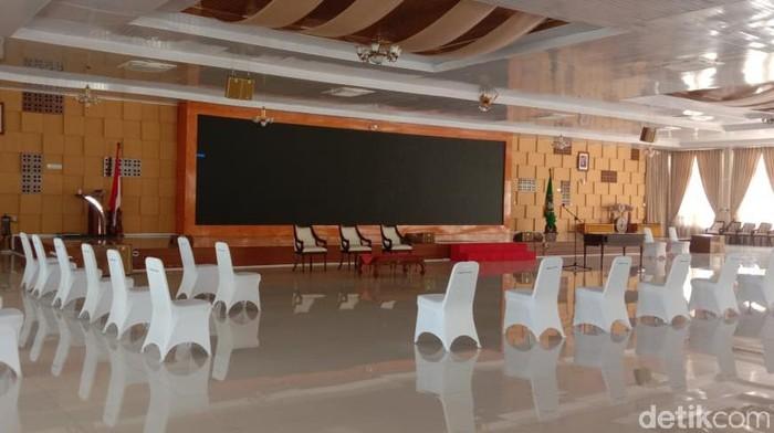 Lokasi pelantikan pejabat eselon 3 Pemprov Sumut (Ahmad Arfah/detikcom)