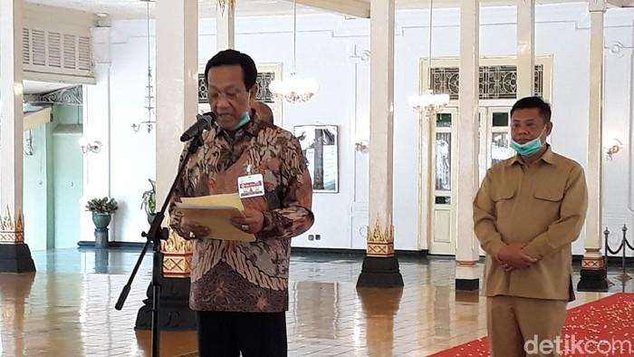 Sapa aruh Sri Sultan HB X terkait Virus Corona di Yogyakarta, Senin (23/3/2020).