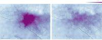 Gambaran polusi udara di Los Angeles setelah adanya larangan aktivitas luar rumah akibat virus corona.