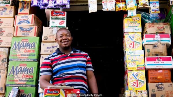 Menurut data Global Entrepreneurship Monitor, lebih dari 30% penduduk Nigeria adalah wirausaha baru atau pemilik-manajer bisnis baru, di antara angka tertinggi di dunia. Adapun tantangan dari negara ini adalah transportasi yang minim. (Sam Makoji/Getty Images/BBC)