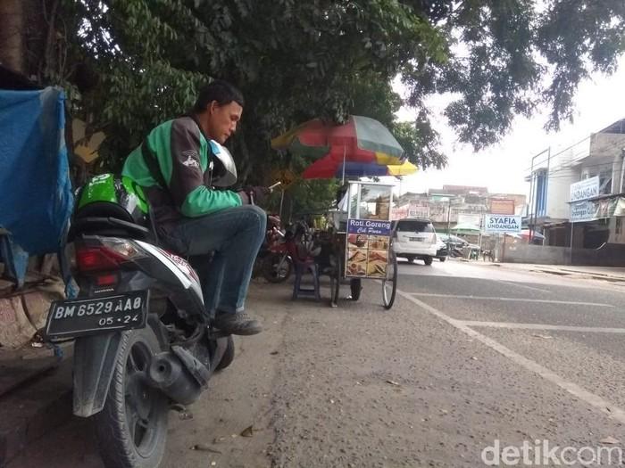 Suasana jalanan di salah satu sudut di Pekanbaru (Chaidir Tanjung/detikcom)