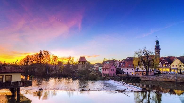Sunset at Lauf a. d. Pegnitz.