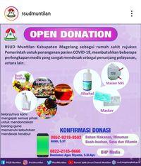 Kekurangan APD hingga Susu RSUD Muntilan Buka Donasi