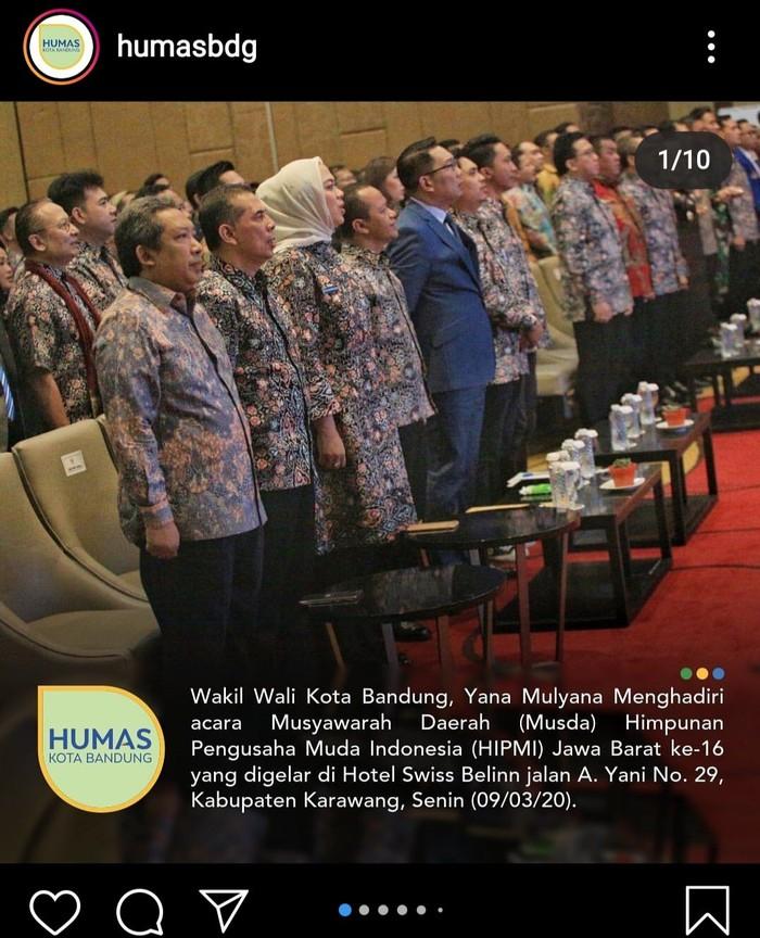 Wakil Wali Kota Bandung Yana Mulyana positif corona usai hadiri musda Hipmi