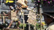 Ogoh-ogoh di Bali juga Pakai Masker Cegah Corona