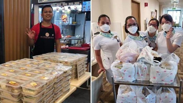 Kisah pengiriman makanan di tengah corona