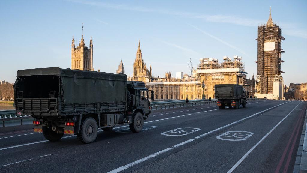 Inggris Lockdown, Jalanan Sepi dan Dijaga Militer