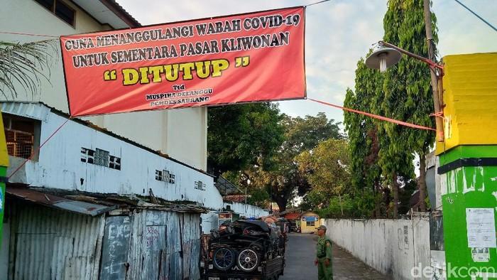 Penutupan pasar mingguan di Klaten terkait Pandemi Corona