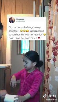 'Poop Challenge' Ajak Orang Tua Tirukan Feses Pakai Selai Kacang
