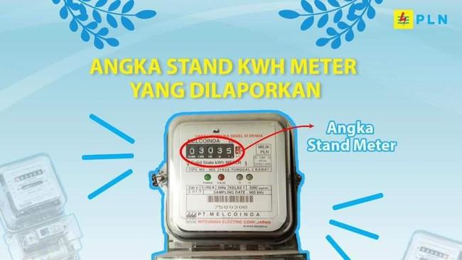 Lapor tagihan listrik pascabayar April cukup kirim angka meteran