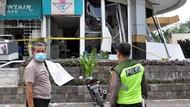 Lokasi Ledakan di Pusat Perbelanjaan Medan Digaris Polisi