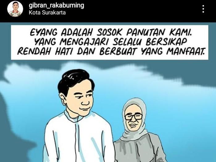 Meninggalnya ibunda Presiden Jokowi menjadi duka mendalam bagi Gibran Rakabuming Raka, Rabu (25/3/2020)