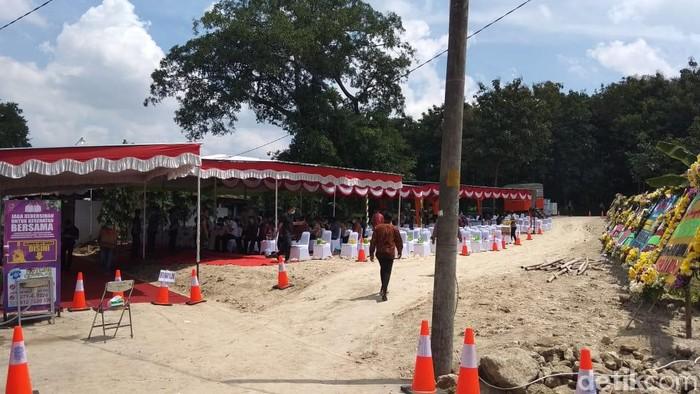 Lokasi pemakaman ibunda Jokowi di Karanganyar, Kamis (26/3/2020).