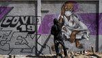 Cara Kreatif Warga Dunia Kampanyekan Pencegahan Corona Lewat Mural