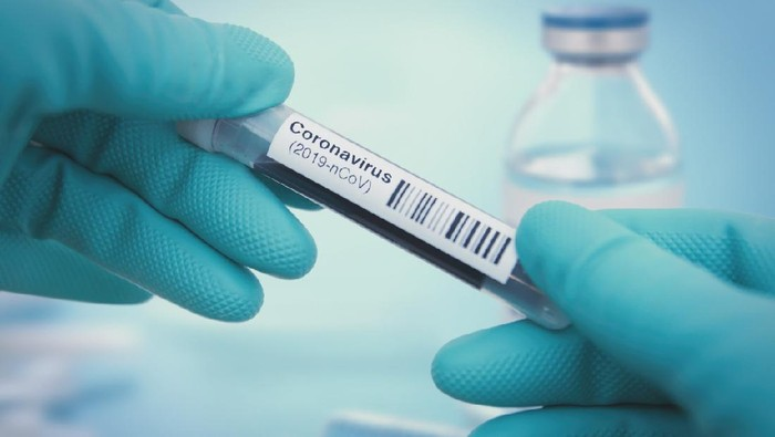 Detail of coronavirus test sample