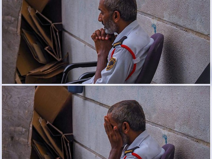 satpam berdoa
