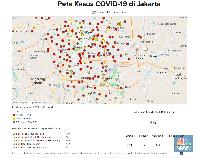 Peta Corona Jakarta 26 Maret: 472 Orang Positif, 43 Meninggal