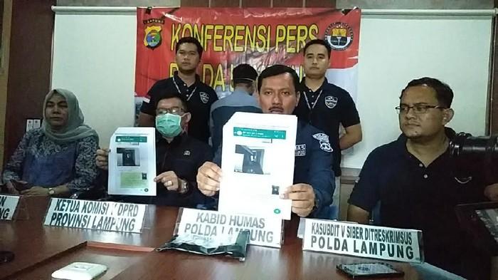 Polda Lampung tangkap pria penyebar hoax soal Corona (dok. Istimewa)