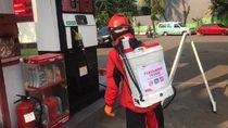 Pertamina Semprot Disinfektan ke 100 SPBU di DKI Jakarta