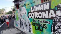 Mural Lawan Covid-19 Hiasi Wonokromo