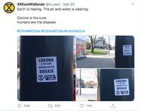 Heboh Pamflet 'Corona Adalah Obat, Manusia Penyakitnya'