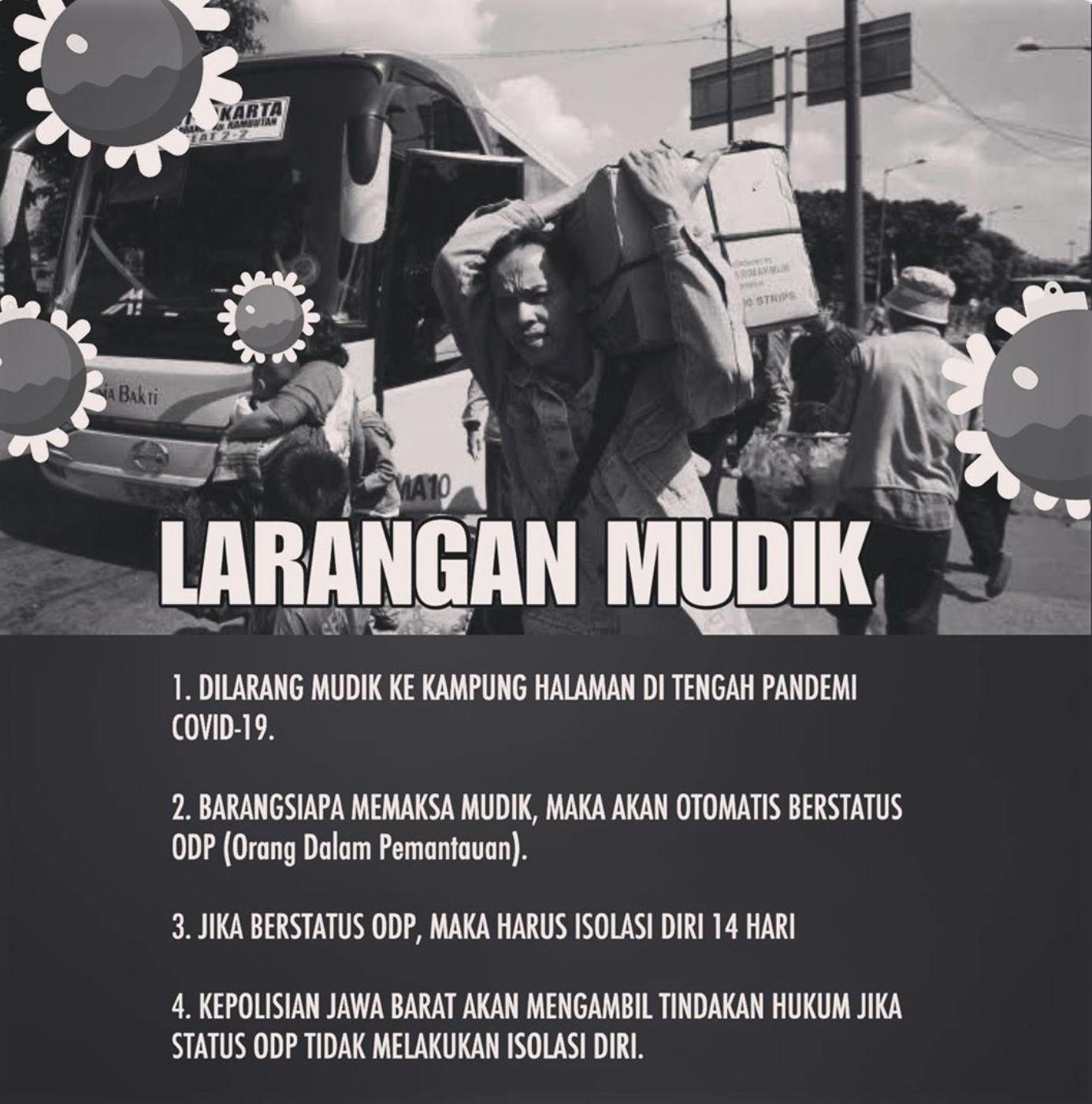 Tegas! Ridwan Kamil Larang Mudik Selama Pandemi Covid-19