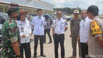 Antisipasi Corona, Pemda OKI Cek Kendaraan Masuk di Tol Trans Sumatera