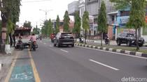 Jalanan Medan Sepi karena Corona, Jalur Sepeda Tetap Diserobot Mobil Parkir