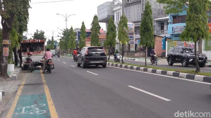 Jalur Sepeda di Medan.