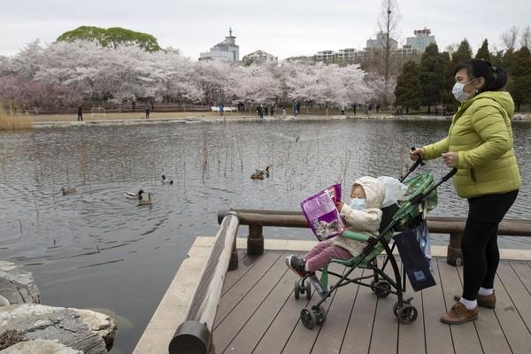Bahkan ada pula warga yang datang dengan membawa anaknya, meski ancaman virus Corona masih ada di negeri tirai bambu, China.