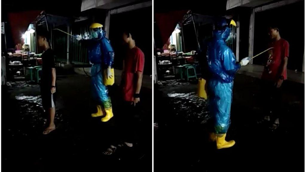 Viral Video 2 Pria Sukabumi Disemprot Disinfektan, Begini Ceritanya